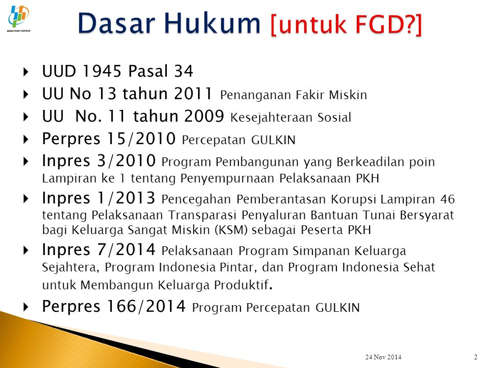 Dasar Hukum [untuk FGD ]